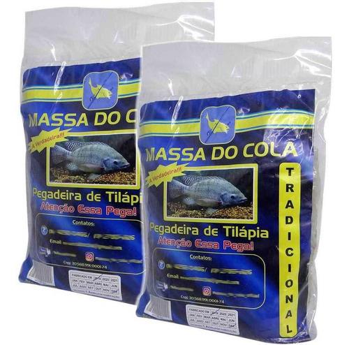 Imagem 1 de 2 de Kit C/ 2 Massa Para Pesca Do Cola Para Tilápia 500g