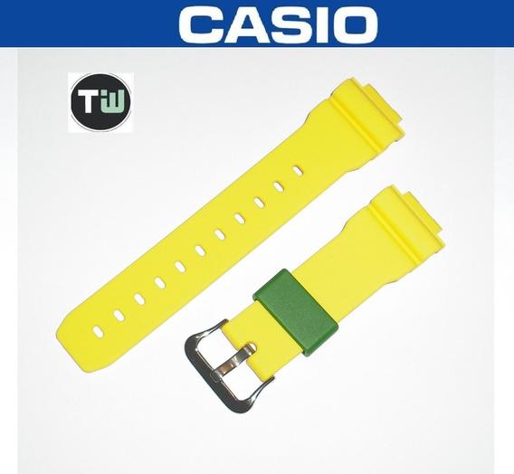 Pulseira Original Casio Borracha Dw-6900 Amarela