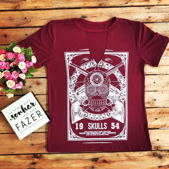 T-shirt Caveira Mexicana Choker