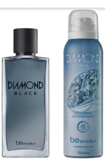 Rch Perfume Diamond Black + Desodorante Antitransp Polishop