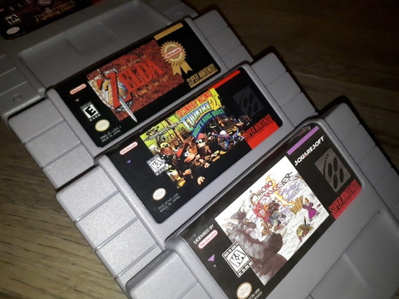 Chrono Trigger, Zelda E Donkey Kong 2, Novos E Em Português.