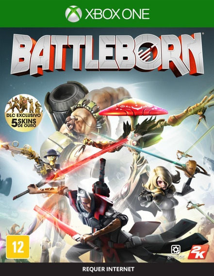 Battleborn - Xbox One Dlc Excluiva 5 Skins De Ouro