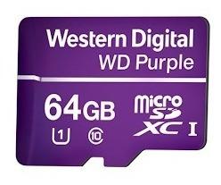Cartao De Memoria Microsd 64gb Wd Purple