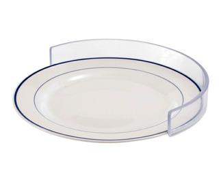 Baranda Contorno Plástico Para Platos Comer Una Sola Mano