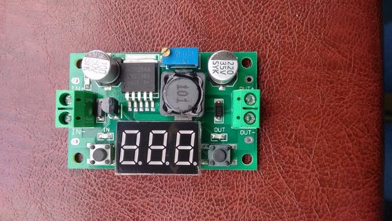 Lm2596 Regulador Tensão Ajustavel Dc-dc Display Arduino 3a