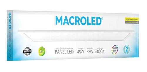 Imagen 1 de 5 de Macroled Panel Led 48w Blanco Frío 6000k 30x120 Pec30120