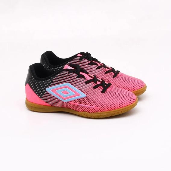 Chuteira Futsal Umbro Speed Sonic - Juvenil - Rosa