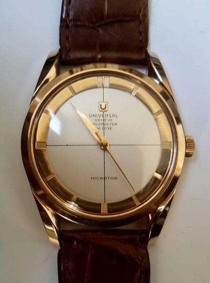 Dois Relógio Universal Todo Em Ouro 18k 750 Automático