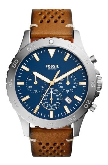 Relógio Fossil Masculino Com Pulseira De Couro Ch3077/0an