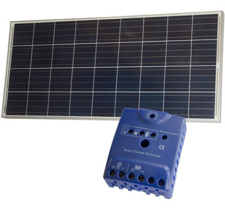 Pack Panel Fotovoltaico 150w + Regulador Solar - Enertik
