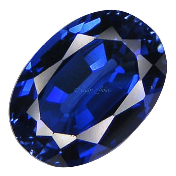 Raríssima Safira Azul Da Caxemira Pedra Preciosa/ 7,11 Cts