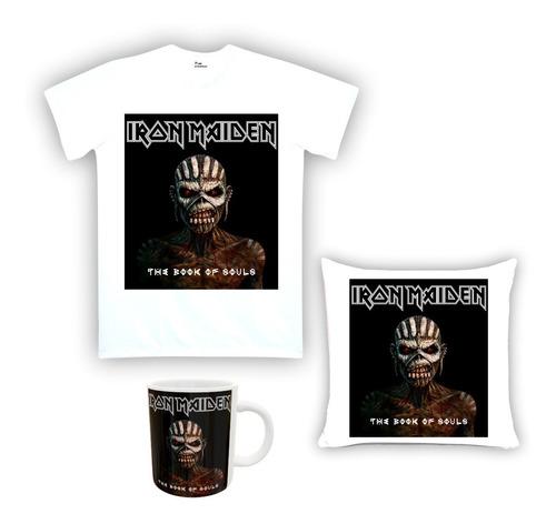 Kit Camiseta, Almofada E Caneca Iron Maiden