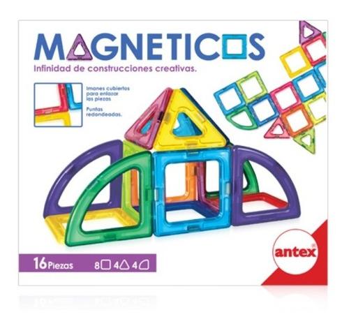 Bloques Magneticos Iman Tipo Magnific 16 Pzs Antex Edu Full