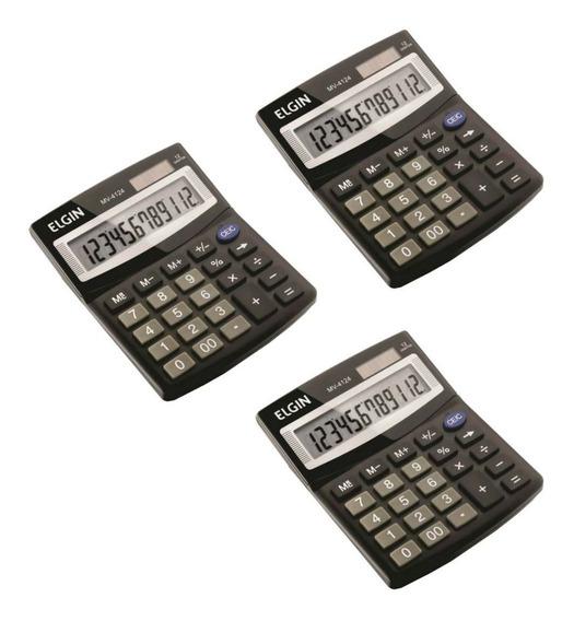 Calculadora De Mesa 12 Dígitos Elgin