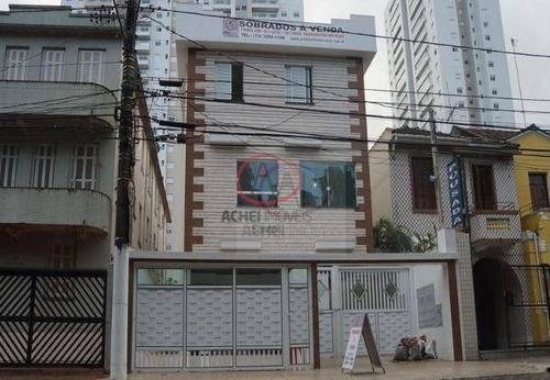 Imagem 1 de 7 de Casa Com 3 Dormitórios, 2 Suítes E 1 Vaga Privativa  À Venda, 100 M² Por R$ 550.000 - José Menino - Santos/sp - Ca0780