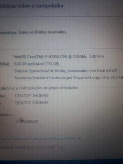 Dell I5 6200u 2.4ghz Sexta Geração