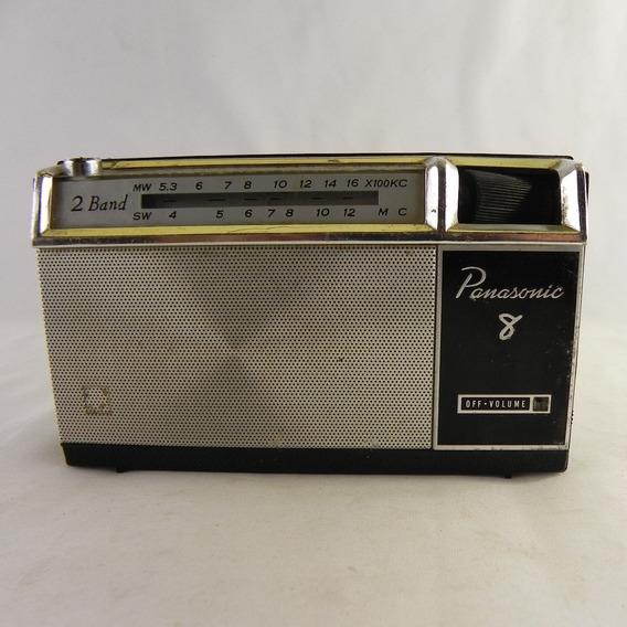 Rádio Antigo National Panasonic 8 R-807 1965 Usado C/defeito