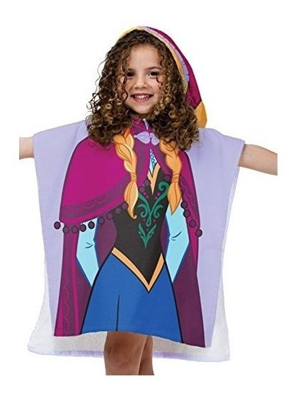 Disney Frozen Anna Hooded Poncho Bath Towel