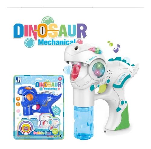 Pistola De Burbujas Modelo Dinosaurio Con Sonido Y Luces