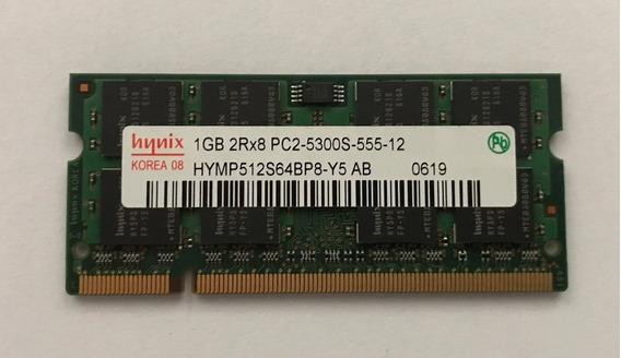 Memória Ddr2 1gb Hynix 667 2rx8 Pc2 5300s - Hymp512s64cp8-y5