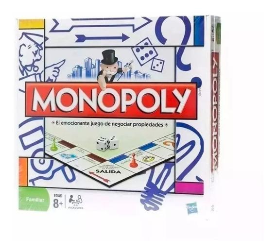 Monopoly Familiar Compacta Juego Finanzas Mas Famoso Hasbro