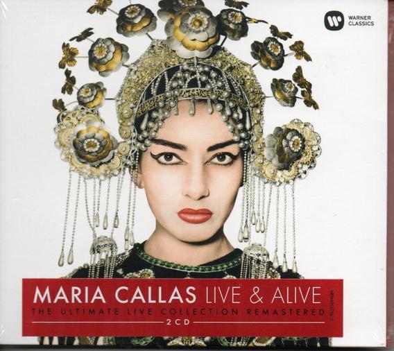 Cd Maria Callas - Live E Alive Cd Duplo