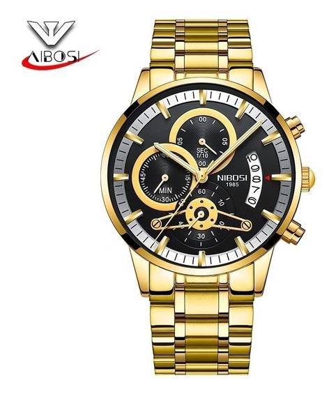 Relógio De Ouro Masculino Analógico Quartz Militar