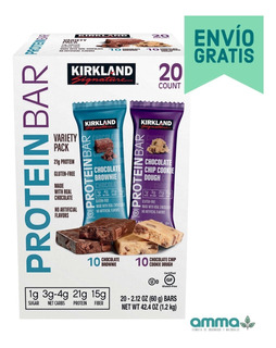 Barras De Proteína Chocolate 20 Piezas 1.2kg Kirkland