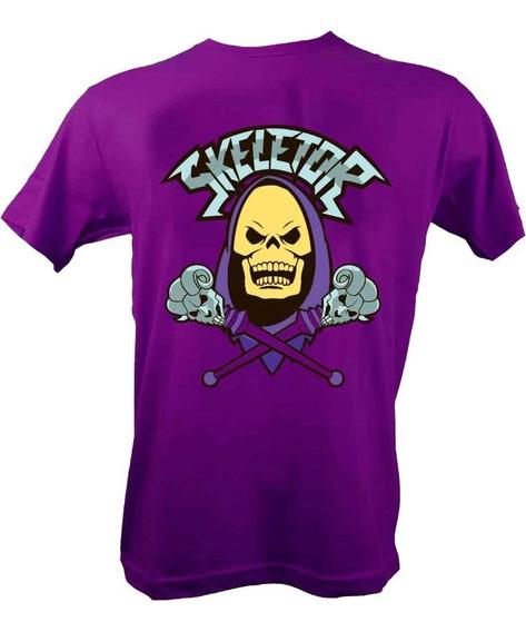 Remera, Motu Skeletor Violeta Original Licencia Oficial
