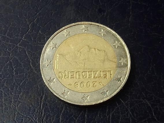 Luxemburgo 2 Euros, 2008 Bimetálica Km# 93 Lote 3735