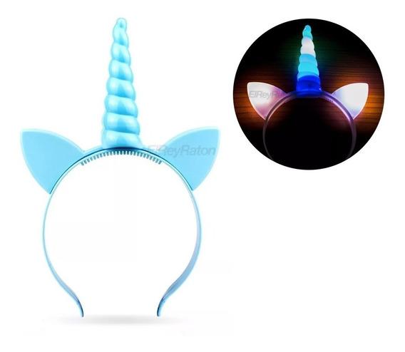 12 Diademas Unicornio Luminosas Para Fiestas Cumpleaños M66