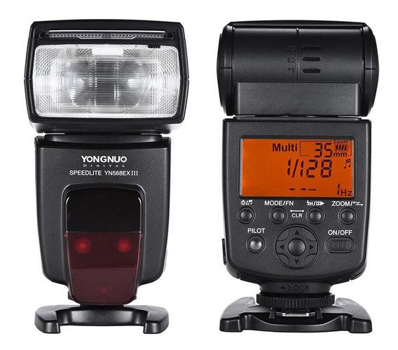 Kit Flash Yongnuo Yn-568ex Iii Canon + Rebatedor + Difusor