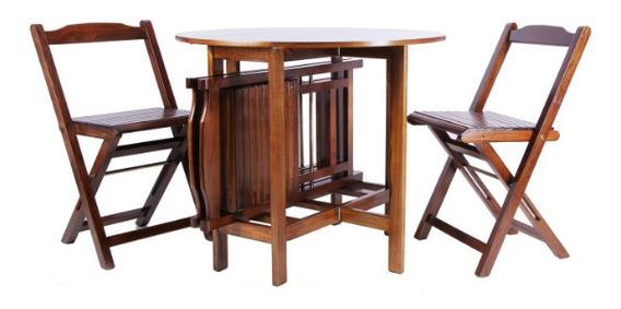 Conjunto Mesa Redonda Dobrável Prático Scholl Com 4 Cadeiras
