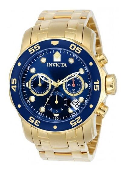 Relógio Invicta Pro Diver 0073 Ouro 18k