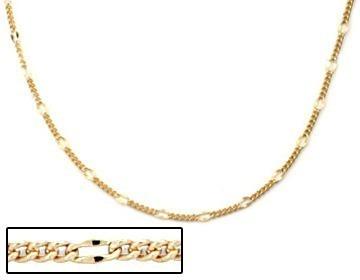 Corrente Fio Alternado 5x1 Folhe Ouro 60 Cm Rommanel 530072