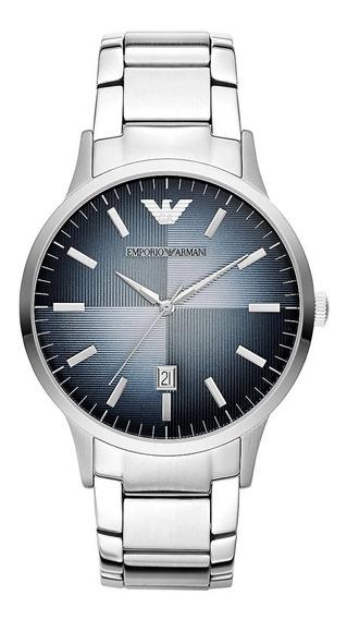 Reloj Análogico Marca Armani Modelo: Ar11182 Color Plata Par