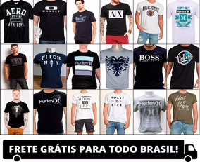 Kit Com 100 Camisas De Marcas Originais