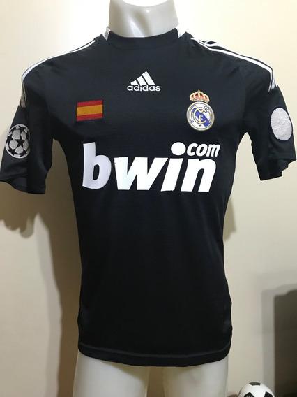 Camiseta Real Madrid España 2008 2009 Sergio Ramos #4 T. S