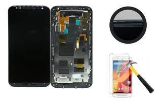 Display Tela Touch Lcd Motorola Moto X2 Preto Com Aro