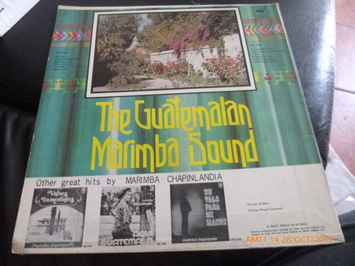 Vinilo Lp De  The Guatemalan Marimba Sound (u613