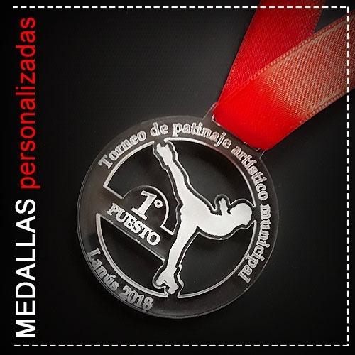 Medallas Personalizadas - Acrilico Grabado + Cinta