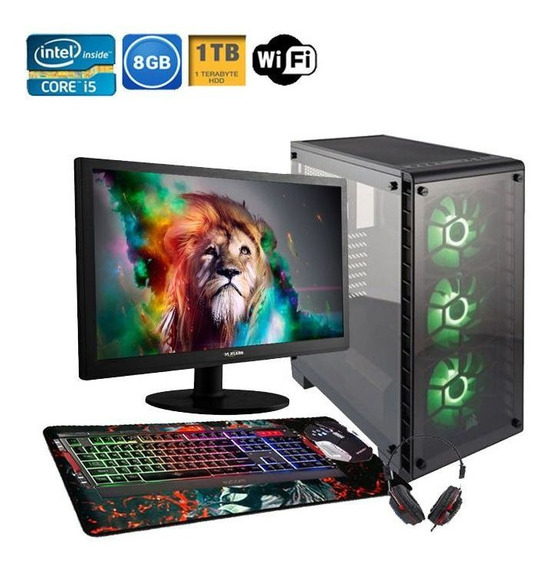 Pc Gamer Completo Maximus I5 Geforce Gtx 1050 Ti 8gb Hd 1tb