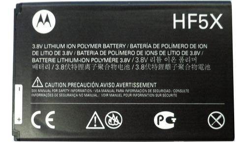 Bateria Original Motorola Hf-5x 3.7v 1650mah (2012) Pz6030