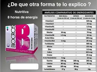 Energizante - Biocros De Omnilife - X3 Cajas De 30 Sobres