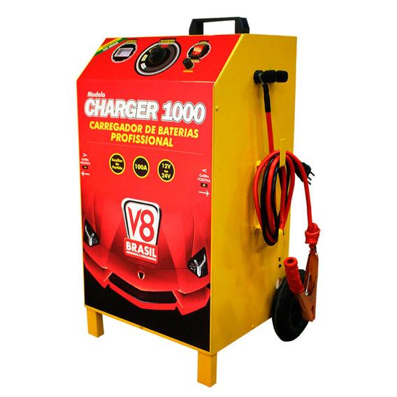 Carregador Bateria 100a 12/24a Auxiliar Partida C1000 - V8