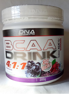 Bcaa Drink 4:1:1 Dna Sabor Açaí Com Guaraná 200g