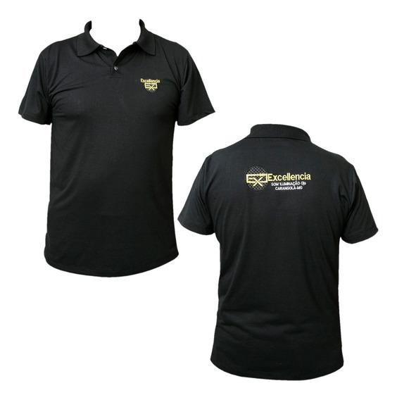 Kit Uniforme 4 Camiseta Polo Bordada Personalizada Sua Logo