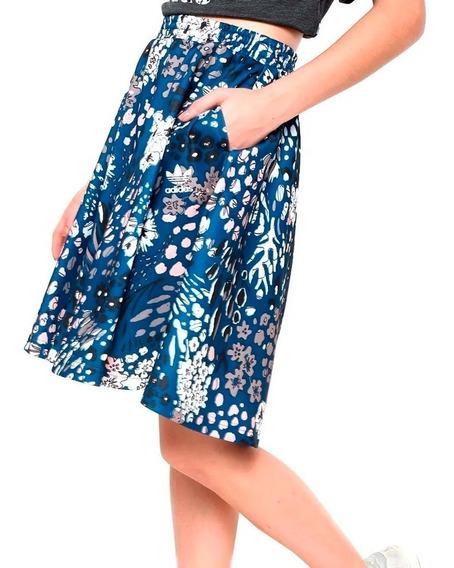 Falda Originals Estampado Floral W Mujer adidas Ay6681