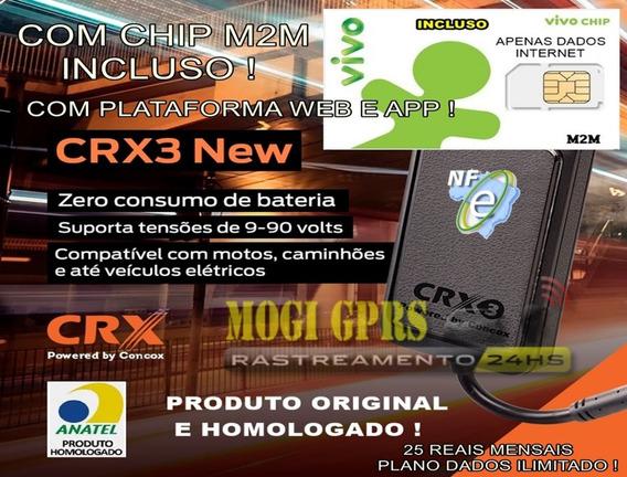 Rastreador Crx3 New Com Nf E Garantia Com Chip + Plataforma
