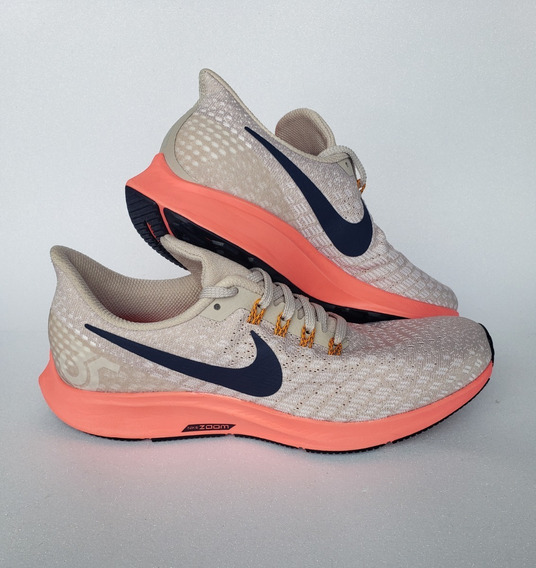 Tênis Nike Air Zoom Pegasus 35 Running Bege Original